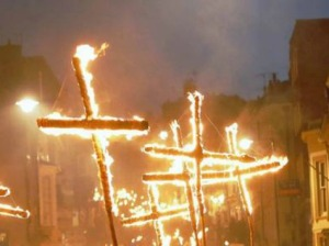 All Christians burn crosses, right?