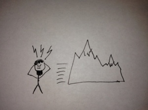 For instance, here is a drawing I made of Mohammed moving a mountain WITH HIS MIND!!!!