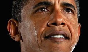 I lost my train of thought because I was distracted by the leader of the free world crying. What a pansy.