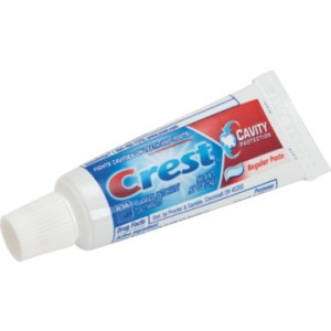 Authorities are unsure why the family chose Crest as their toothpaste but one thing is certain: this reporter is glad he uses Colgate.