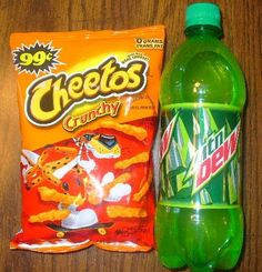 Of course there is a picture of Cheetos and Mountain Dew on the internet.