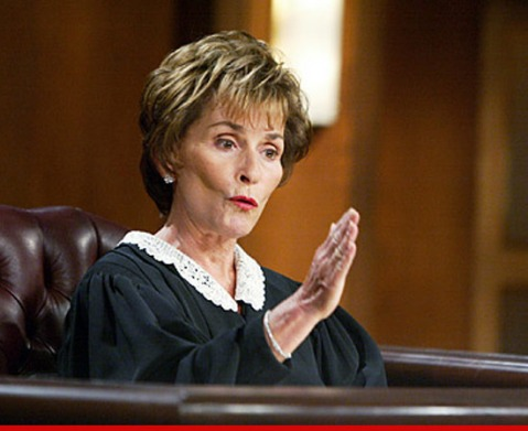 I wish that these kinds of judicial appeals were heard by Judge Judy.