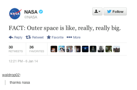 NASA can back me up on fact #1.